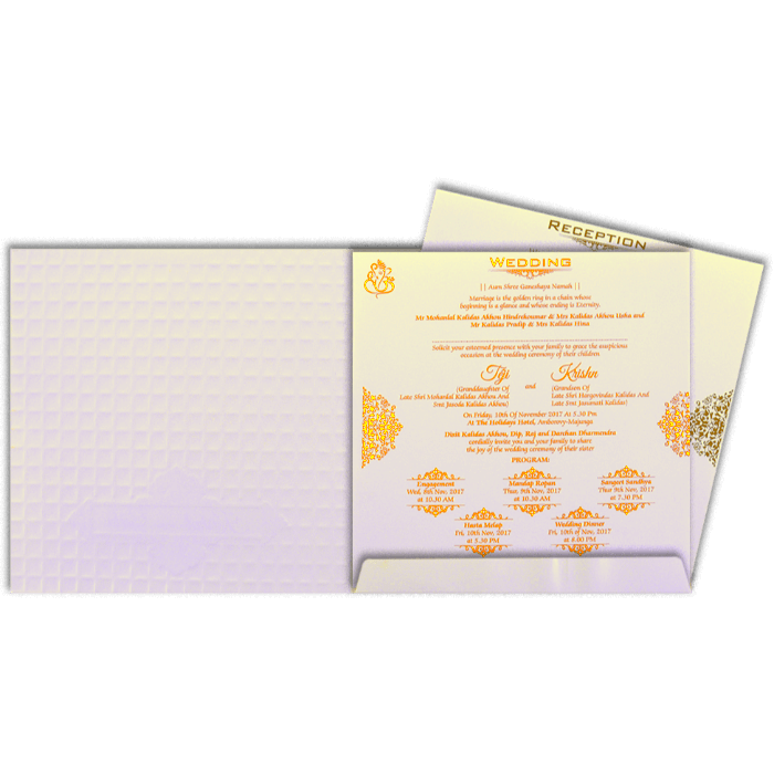 Hindu Wedding Cards - HWC-17270 - 5