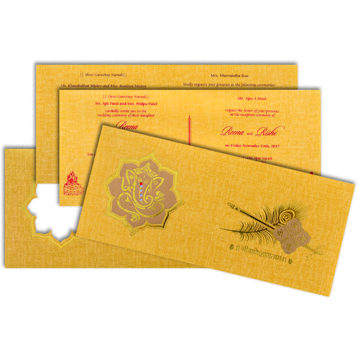 Hindu Wedding Cards - HWC-17290 - 4