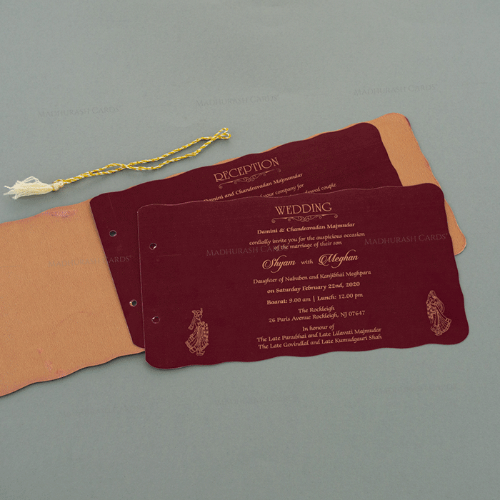 Hindu Wedding Cards - HWC-17108 - 4