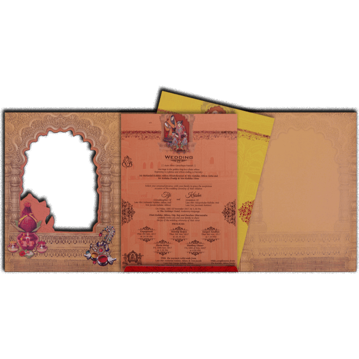 Hindu Wedding Cards - HWC-17111 - 3
