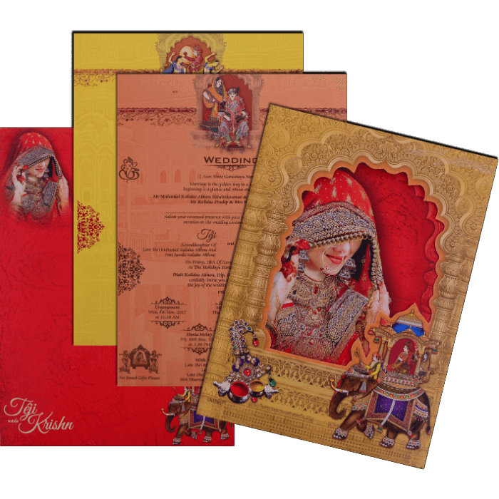 Hindu Wedding Cards - HWC-17111 - 5
