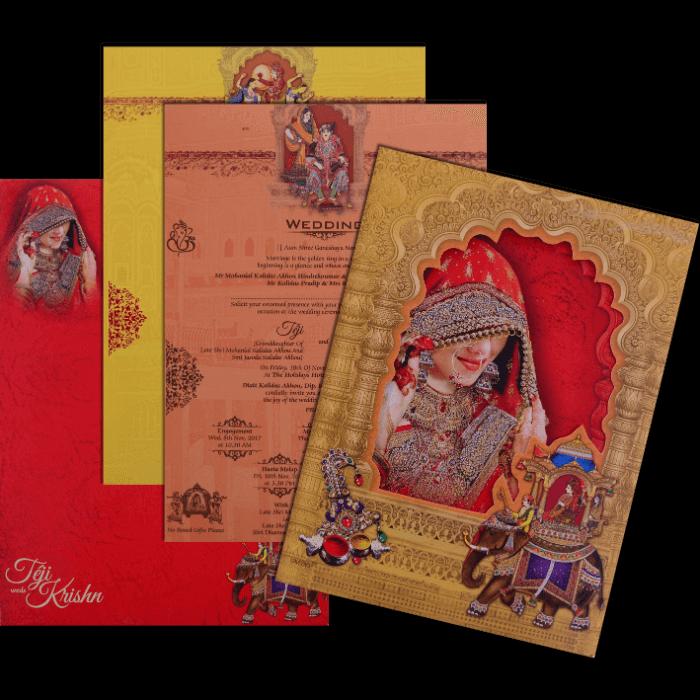 Hindu Wedding Cards - HWC-17111 - 5
