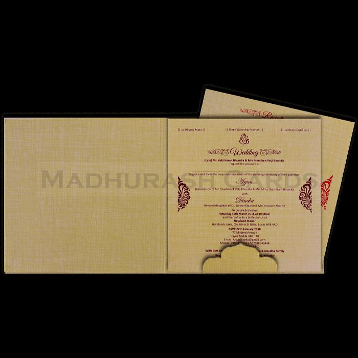 Hard Bound Wedding Cards - HBC-17064 - 4