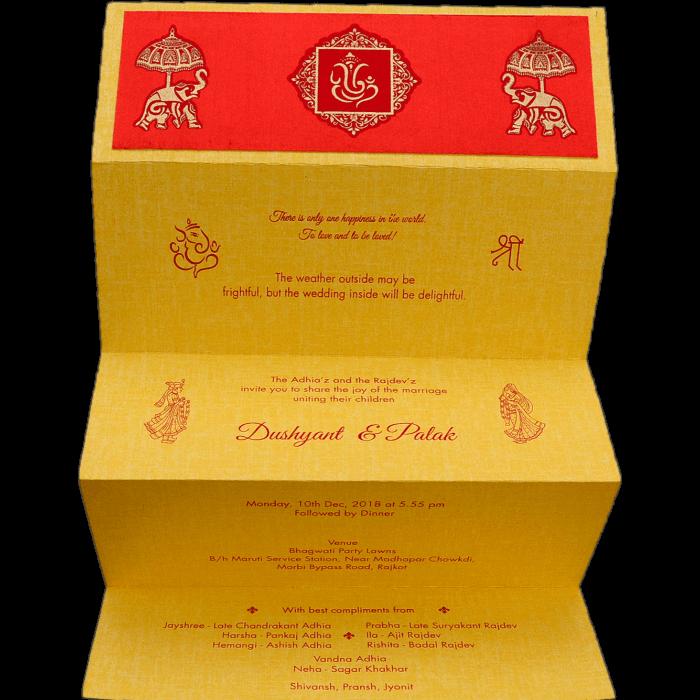 Hindu Wedding Cards - HWC-17776 - 3