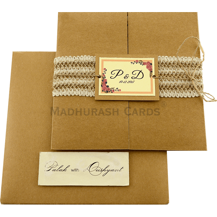 Kraft Wedding Invitations - KWC-9411 - 3