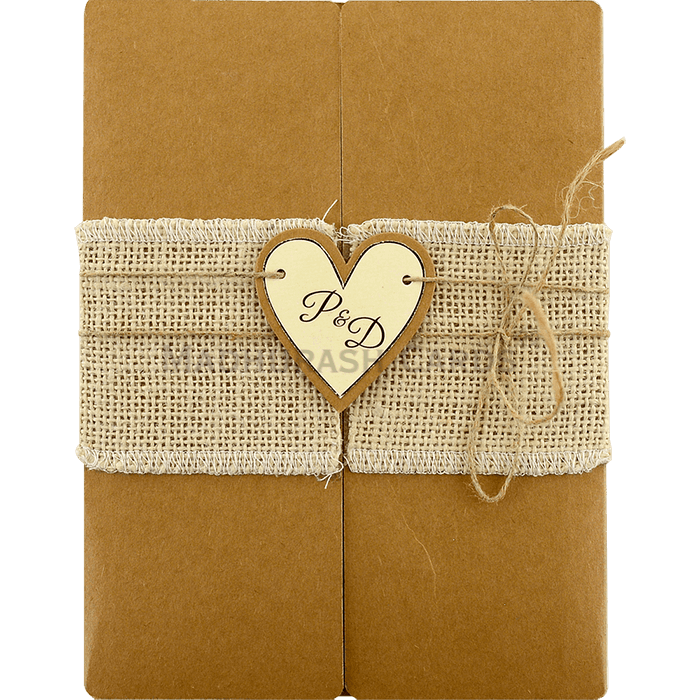 Kraft Wedding Invitations - KWC-9453 - 2