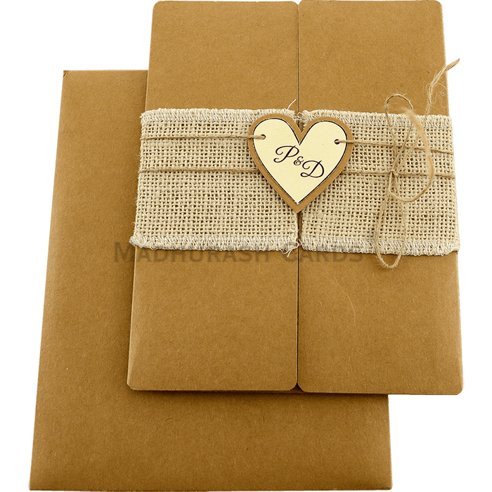 Kraft Wedding Invitations - KWC-9453 - 3
