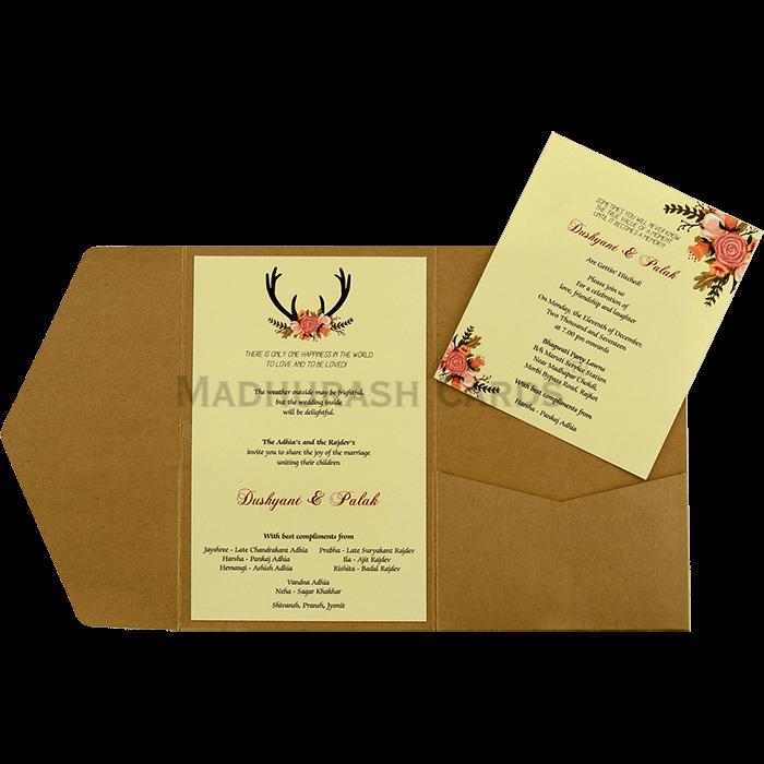 Kraft Wedding Invitations - KWC-9461 - 5