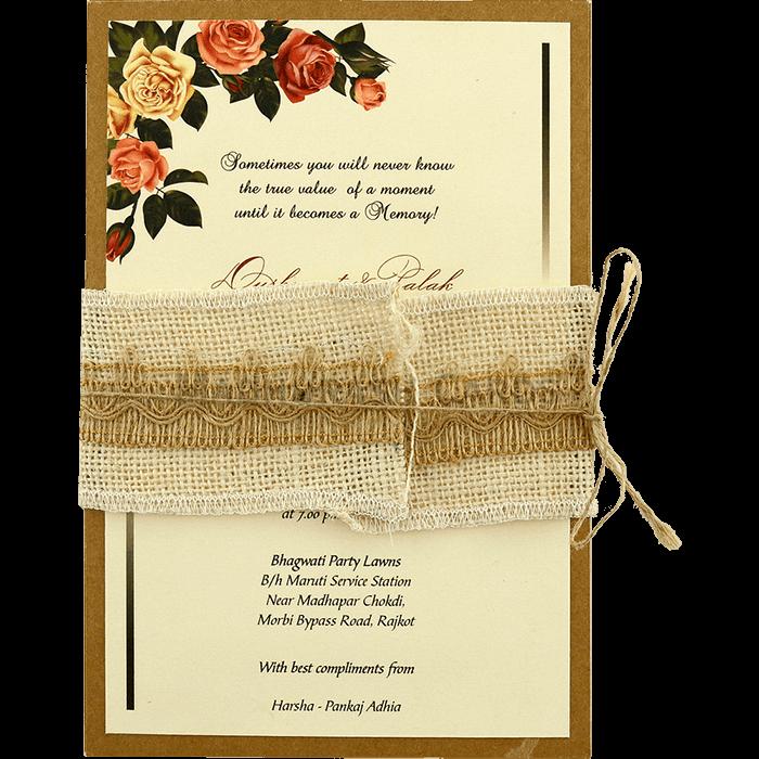 test Kraft Wedding Invitations - KWC-9463
