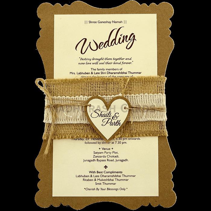 test Kraft Wedding Invitations - KWC-9481