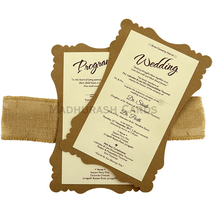 Kraft Wedding Invitations - KWC-9481 - 4