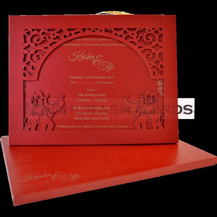 test Hard Bound Wedding Cards - HBC-17019