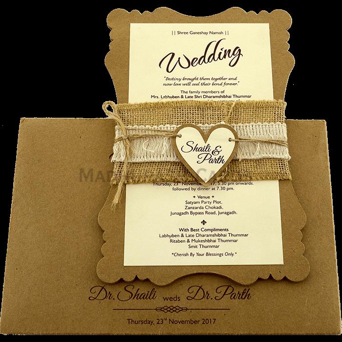 Muslim Wedding Cards - MWC-9481 - 3