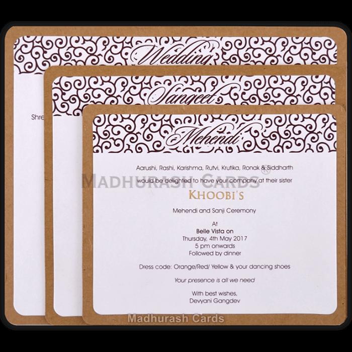 test Kraft Wedding Invitations - KWC-8857