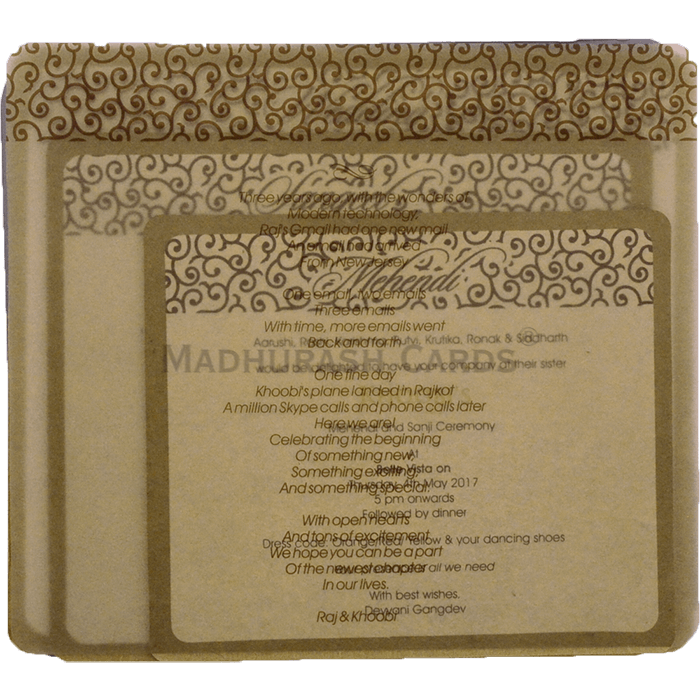 Elegant Kraft Wedding Invites