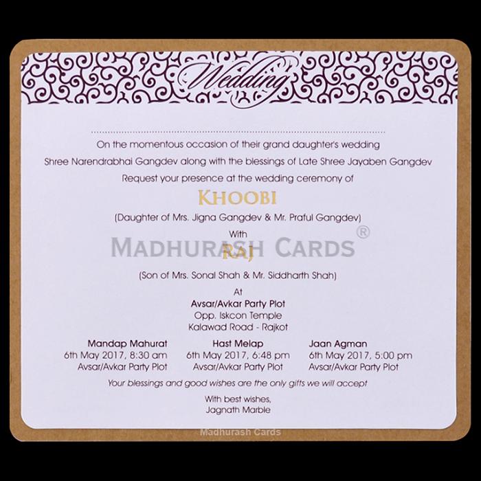Kraft Wedding Invitations - KWC-8857 - 5