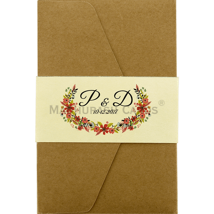 Kraft Wedding Invitations - KWC-9462 - 2