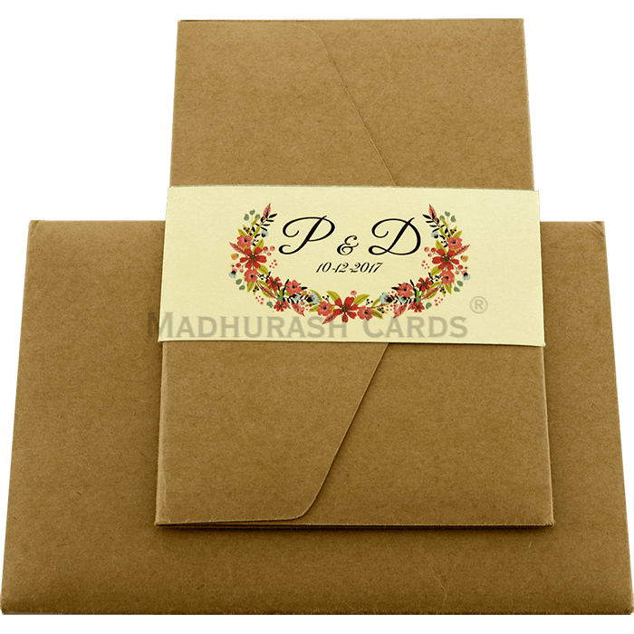 Kraft Wedding Invitations - KWC-9462 - 3