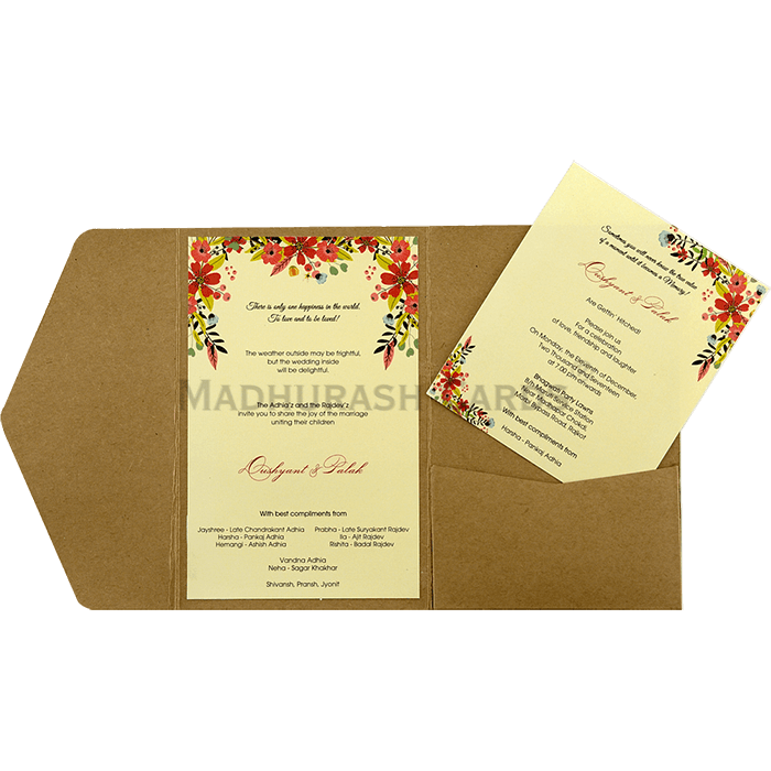 Kraft Wedding Invitations - KWC-9462 - 5