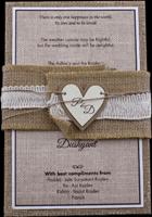 Kraft Wedding Invitations - KWC-9401