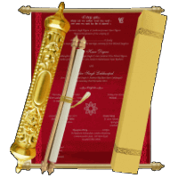 Royal Scroll Invitations - SC-6002