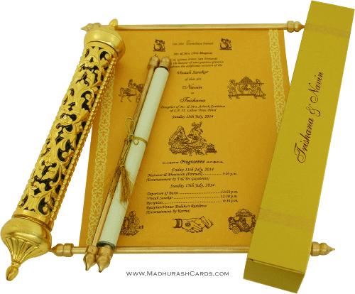 test Royal Scroll Invitations - SC-6005