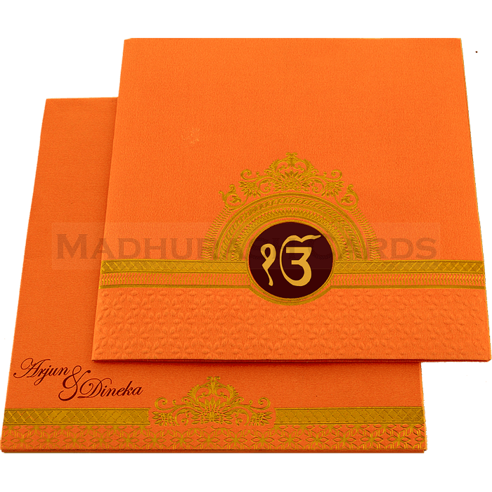 Sikh Wedding Cards - SWC-17134S - 2