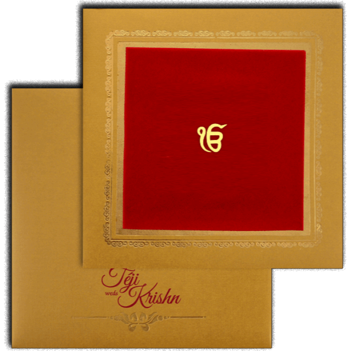 test Sikh Wedding Cards - SWC-17145S