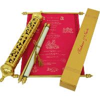 Royal Scroll Invitations - SC-6008