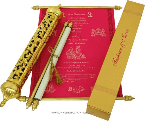 test Royal Scroll Invitations - SC-6008
