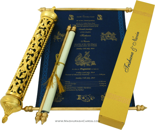 test Royal Scroll Invitations - SC-6009