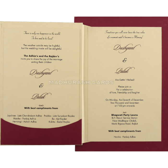 Custom Wedding Cards - CZC-9431M - 4