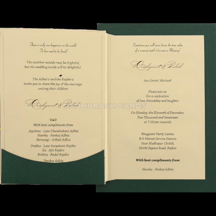 Custom Wedding Cards - CZC-9431G - 4
