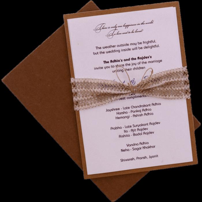 test Kraft Wedding Invitations - KWC-9482