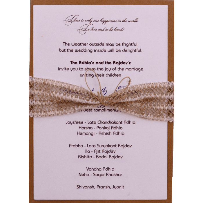 Kraft Wedding Invitations - KWC-9482 - 3