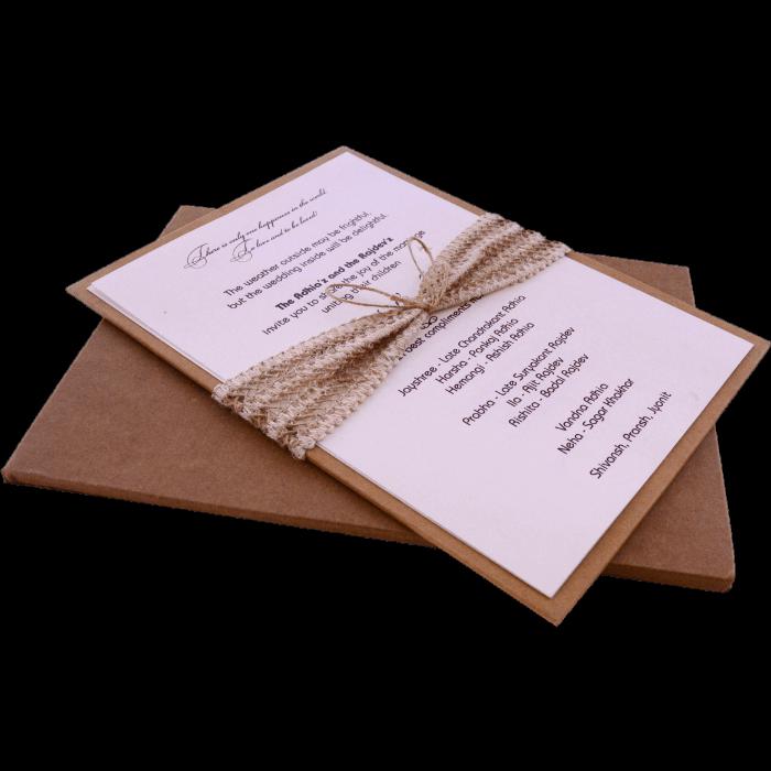 Kraft Wedding Invitations - KWC-9482 - 5