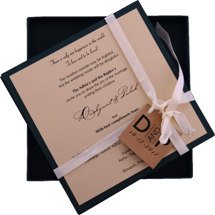Custom Wedding Cards - CZC-9441G - 3