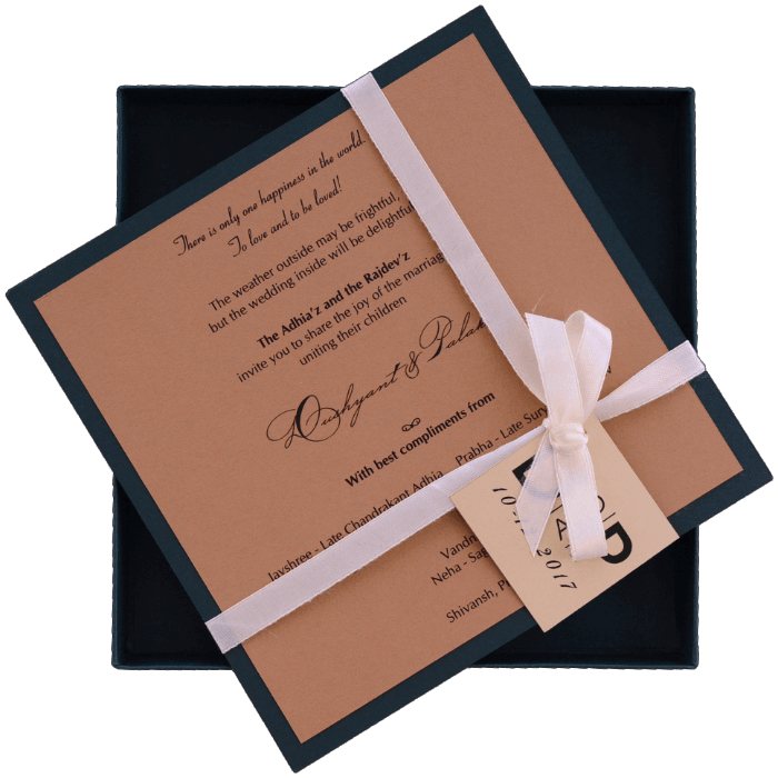 Custom Wedding Cards - CZC-9441GG - 3
