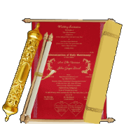 Royal Scroll Invitations - SC-6003