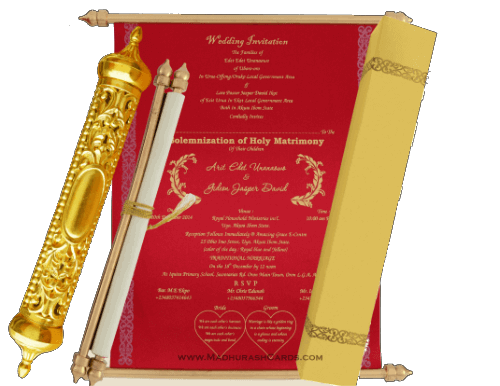 test Royal Scroll Invitations - SC-6003