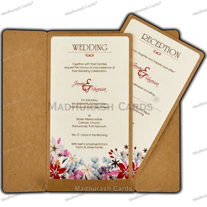 Custom Wedding Cards - CZC-8842 - 4