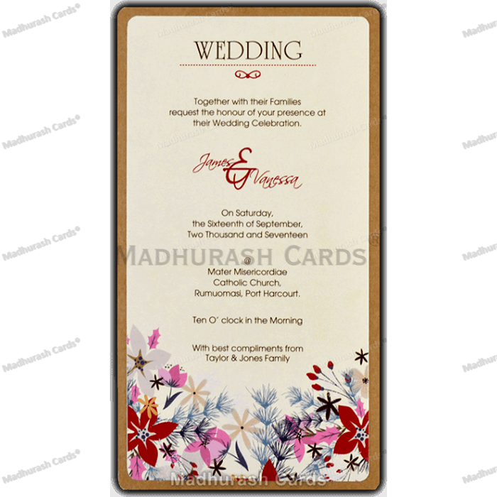 Custom Wedding Cards - CZC-8842 - 5