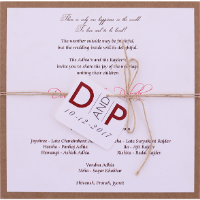 Custom Wedding Cards - CZC-9524