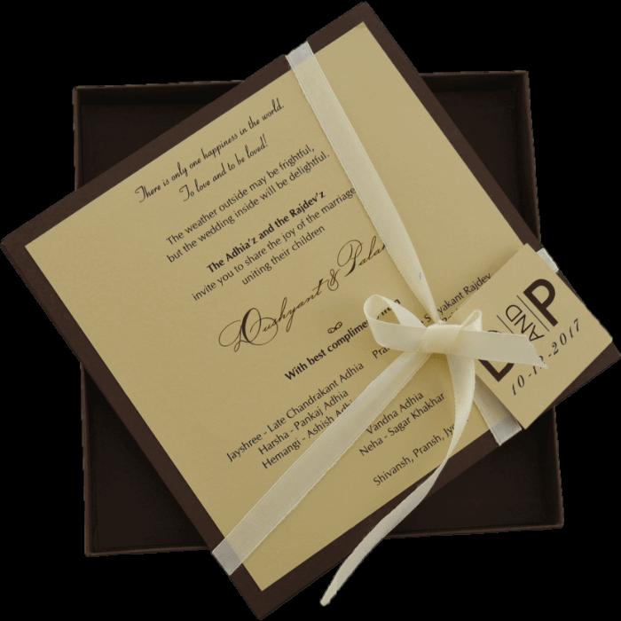 Custom Wedding Cards - CZC-9441BR - 3