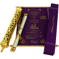 Royal Scroll Invitations - SC-6014