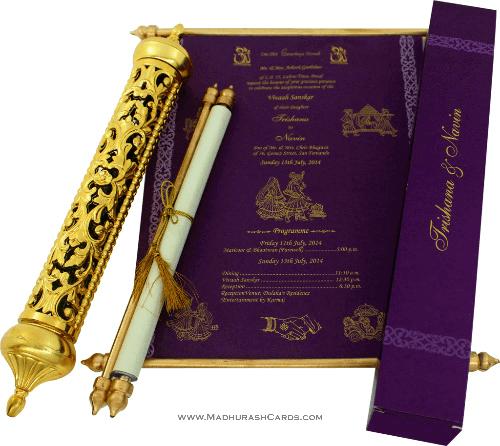 test Royal Scroll Invitations - SC-6014