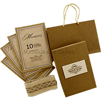 Kraft Wedding Invitations - KWC-9341