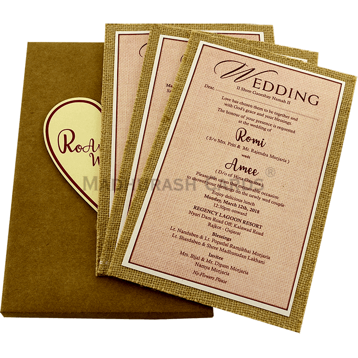 Kraft Wedding Invitations - KWC-9412 - 3