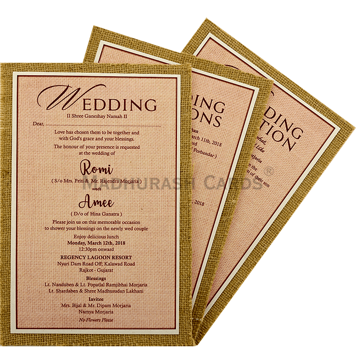 Kraft Wedding Invitations - KWC-9412 - 5