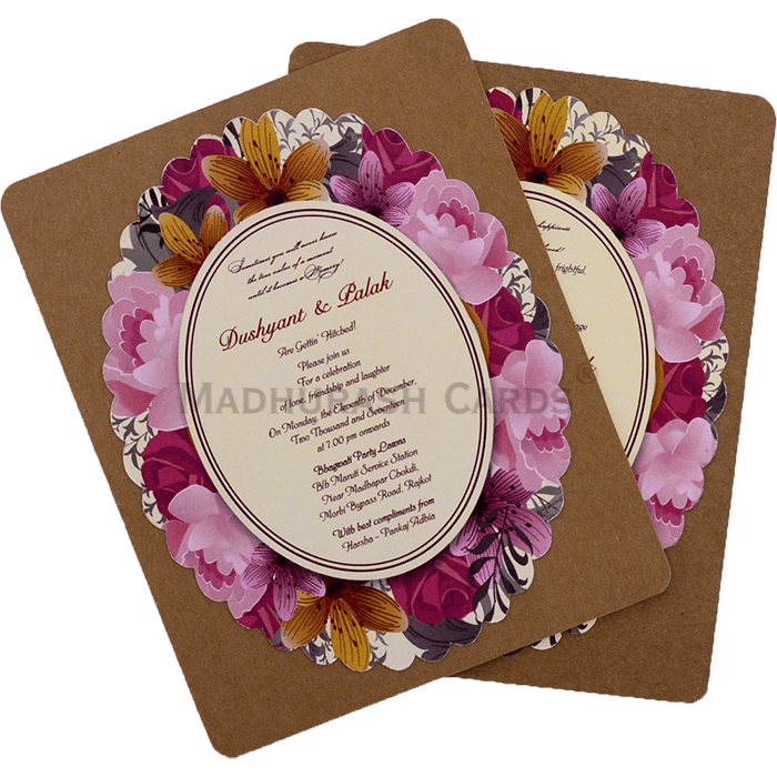 test Kraft Wedding Invitations - KWC-9531